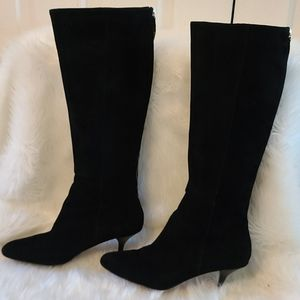 Coach Fayth suede black mid cafe boots